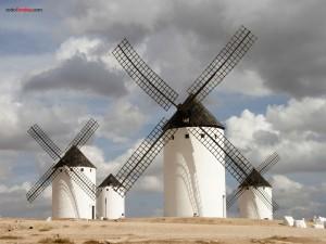 Molinos de viento en Campo de Criptana (Ciudad Real, España)