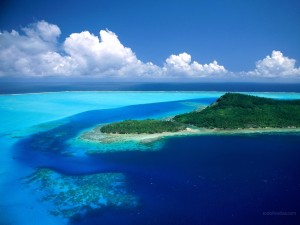 Postal: Isla paradisíaca