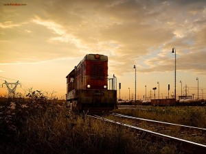 Postal: Vieja locomotora