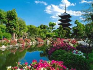 Pagoda de cinco aleros. Templo Toji (Kioto)