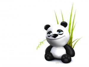 Postal: Panda sonriente