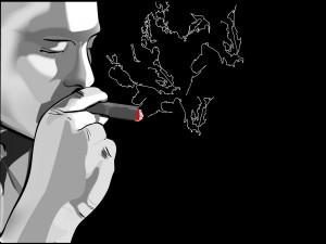 Fumando un puro
