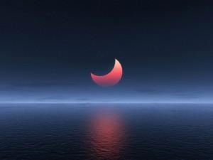 Postal: Eclipse rojizo