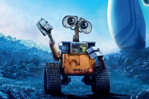 WALL-E te saluda