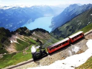 Postal: Tren de montaña