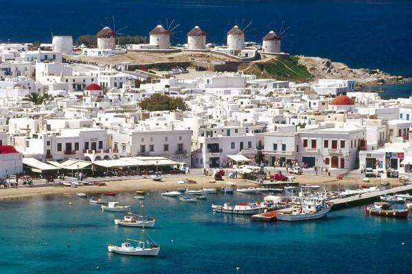 Isla de Míconos (o Míkonos), en Grecia
