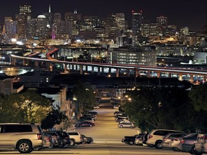 Postal: San Francisco de noche
