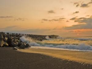 Postal: Costa de Misawa, Japón
