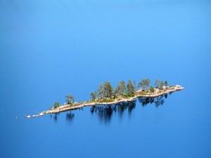 Postal: Isla en el Lago Pielinen (Finlandia)