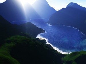 Postal: Lago azul