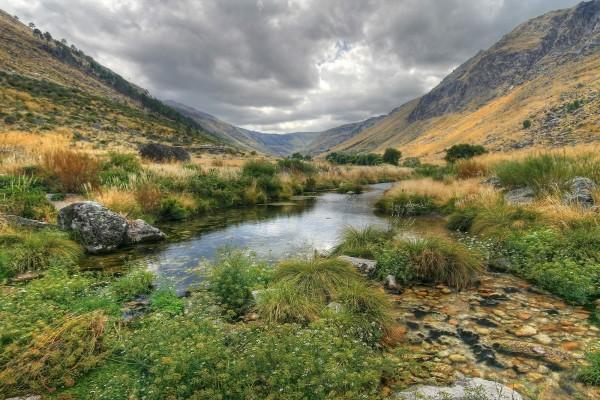 Riachuelo en el valle