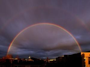 Postal: Doble arco iris