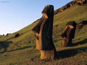 Moáis en la Isla de Pascua