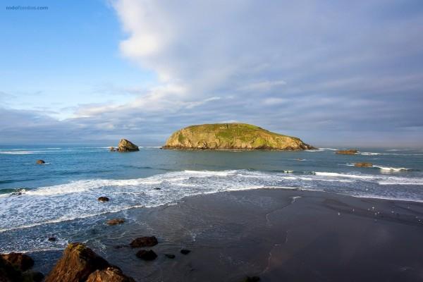 Un islote cerca de la orilla