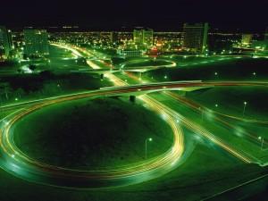 Tráfico por la noche
