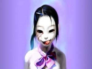 Postal: Chica gótica asiática