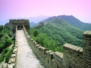 Postal: Dentro de la Gran Muralla China