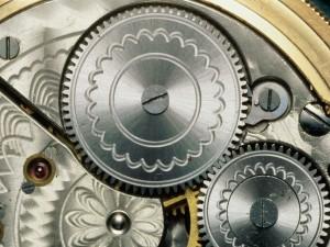 Postal: La maquinaria de un reloj