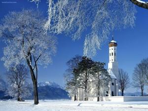 Postal: Iglesia de San Colomán, Schwangau, Baviera, Alemania