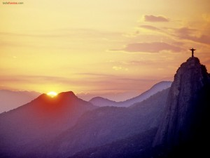 Cristo Redentor al atardecer, Río de Janeiro