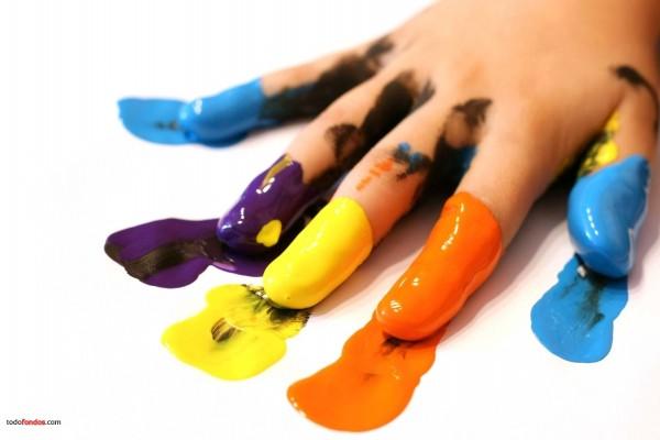 Pintura en los dedos
