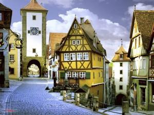 Postal: Rothenburg ob der Tauber, Baviera, Alemania