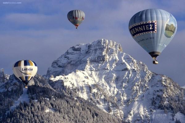 Festival de globos en Château-d'Oex, Suiza