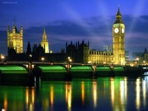 Postal: Palacio de Westminster (de noche), Londres