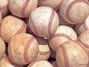 Postal: Un montón de pelotas de béisbol