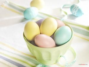Postal: Huevos de Pascua
