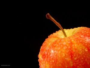 Manzana mojada