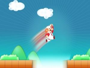Postal: Salto de Mario