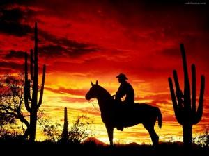 Silueta de un vaquero