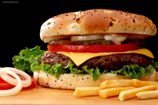 Hamburguesa con patatas