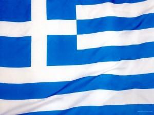 Postal: Bandera de Grecia