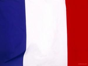 Postal: Bandera de Francia