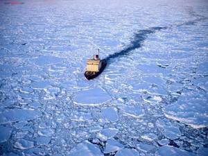 Rompehielos en la Antártida