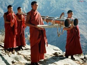 Postal: Monjes tibetanos