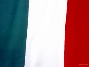 Postal: Bandera de Italia