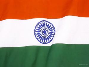 Postal: Bandera de la India