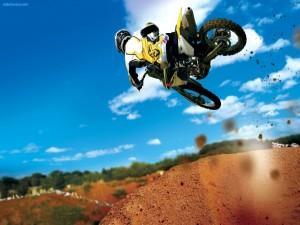 Salto de motocross