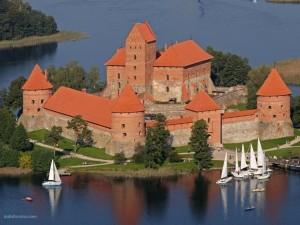 Postal: Castillo de la Península de Trakai (Lituania)