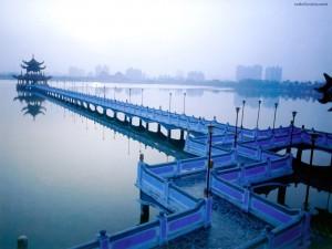 Postal: Puente azul