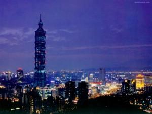 La ciudad de Taipei, China