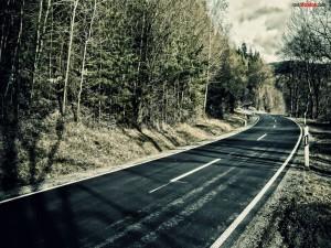 Postal: Carretera sinuosa