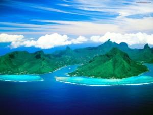 Opunohu Bay (en la isla de Moorea, Tahití)