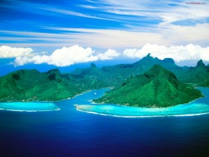Postal: Opunohu Bay (en la isla de Moorea, Tahití)