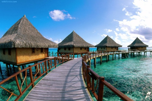 Hotel en el Archipiélago Tuamotu (Polinesia Francesa)