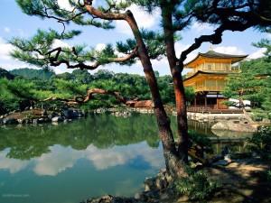 Postal: Templo Kinkaku-ji (Kyoto, Japón)
