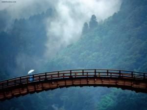 Postal: Puente Kintai (Prefectura de Yamaguchi, Japón)